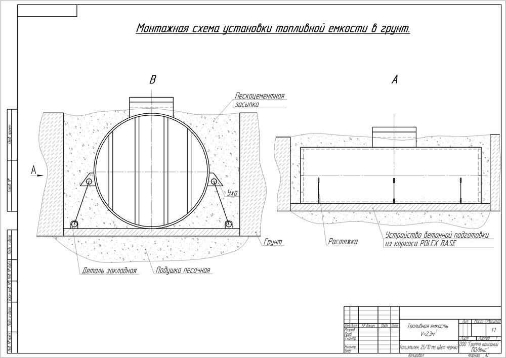 Сборный чертеж, схема монтажа